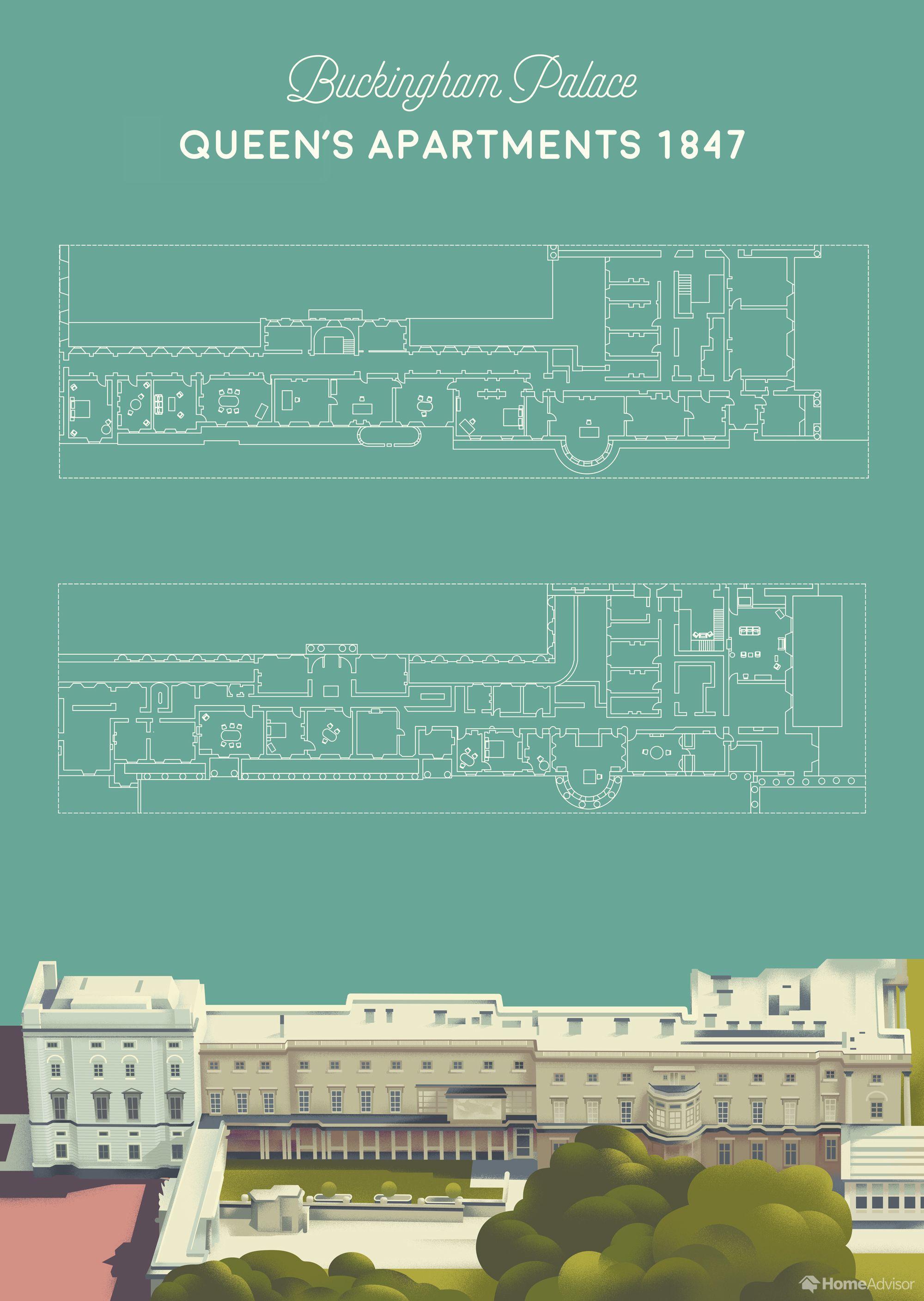 Researchers Recreated Buckingham Palace S Floor Plans