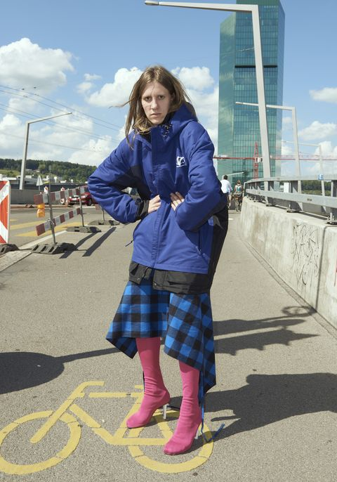 Plaid, Tartan, Blue, Photograph, Clothing, Pattern, Snapshot, Electric blue, Street fashion, Fashion,