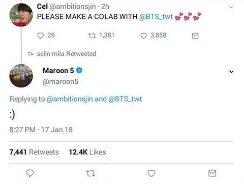 BTS,防彈少年團,Maroon 5,魔力紅,合作