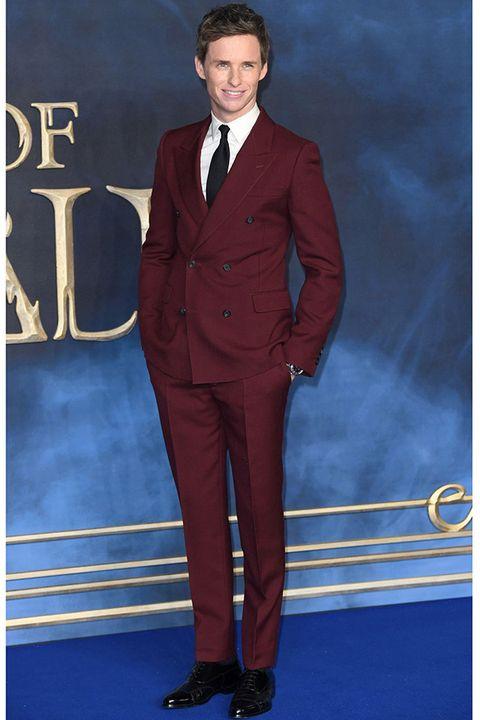 Suit, Clothing, Formal wear, Tuxedo, Cobalt blue, Pantsuit, Electric blue, Outerwear, Blazer, Tie,