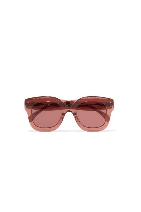 Eyewear, Sunglasses, Glasses, Personal protective equipment, Brown, Maroon, Vision care, Goggles, aviator sunglass, Peach,