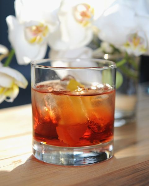 Drink, Alcoholic beverage, Old fashioned, Negroni, Distilled beverage, Cocktail, Sazerac, Old fashioned glass, Classic cocktail, Amaretto,