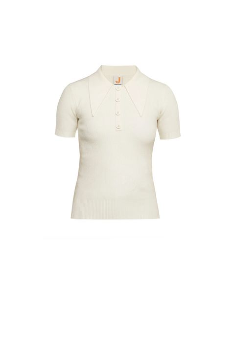Clothing, White, T-shirt, Sleeve, Beige, Outerwear, Neck, Shoulder, Top, Polo shirt,