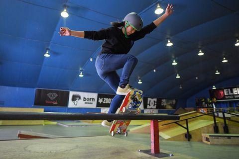 Skateboard, Skateboarding, Extreme sport, Recreation, Sports equipment, Skateboarding Equipment, Sports, Individual sports, Boardsport, Sport venue,