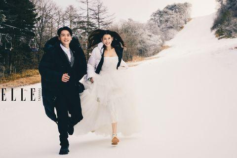 許孟哲和老婆趙孟姿為ELLE 拍攝絕美婚紗照曝光!