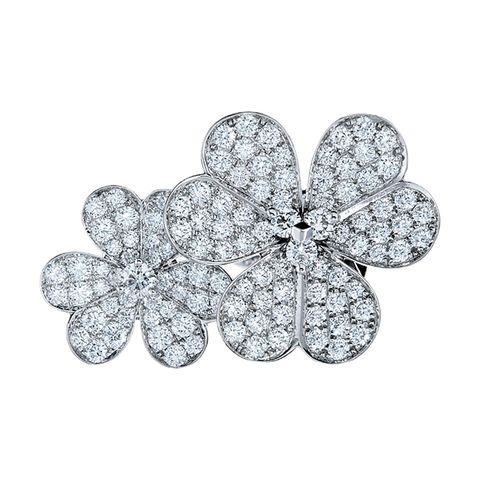 Diamond, Leaf, Fashion accessory, Silver, Brooch, Jewellery, Silver, Metal,