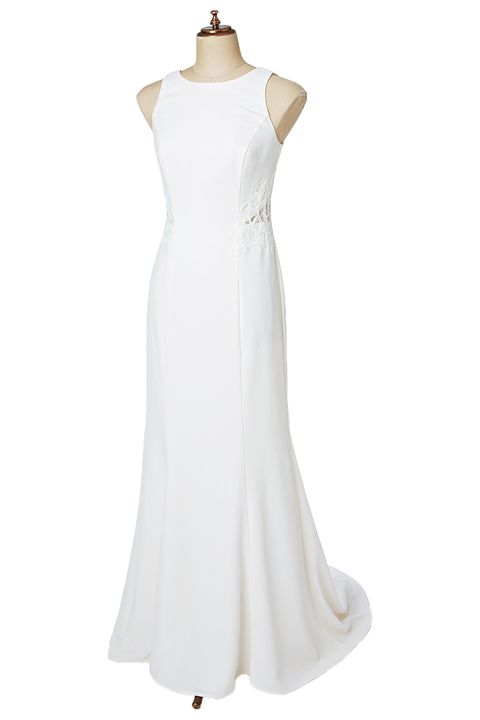 Clothing, Dress, Sleeve, Shoulder, Textile, White, One-piece garment, Formal wear, Style, Gown,