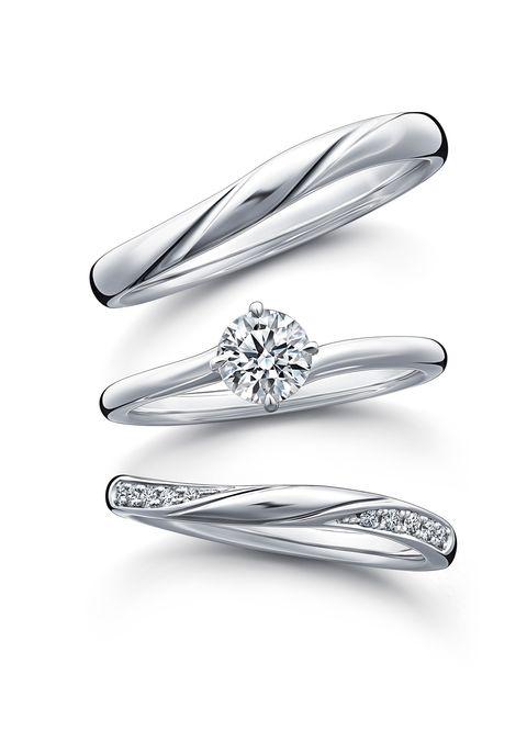 ラザール ダイヤモンドの新作マリッジリング、のショアと、エンゲージメントリングのミスト