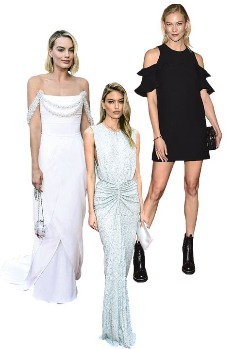 Clothing, Dress, Sleeve, Shoulder, Standing, Joint, White, Formal wear, One-piece garment, Style,