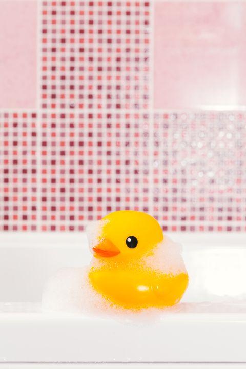 rubber ducky, Yellow, Bath toy, Toy, Beak, Ducks, geese and swans, Pattern, Bird, Waterfowl, Water bird,