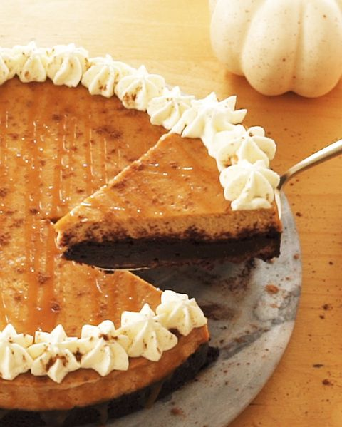 brownie bottom pumpkin cheesecake for spice islands