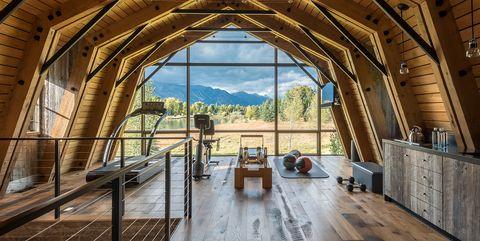 CLB Architects Barn Gym - ELLE Decor