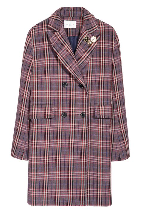 Clothing, Plaid, Tartan, Pattern, Outerwear, Sleeve, Coat, Textile, Design, Collar,