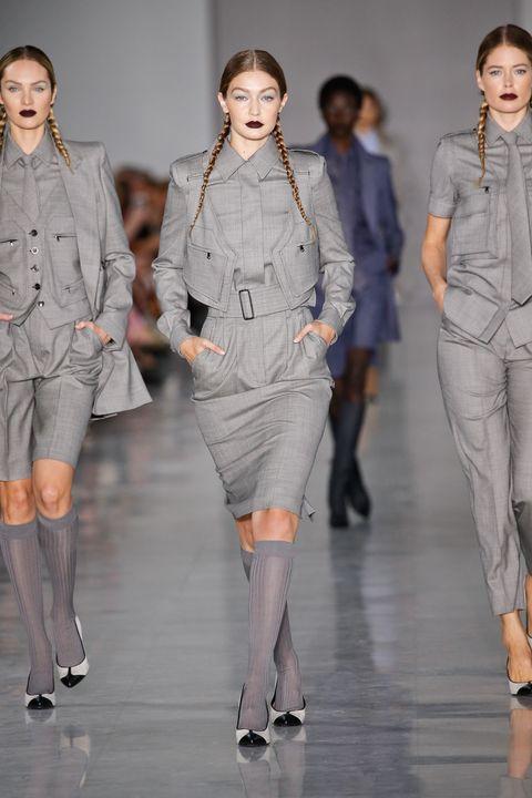 Fashion model, Fashion, Clothing, Fashion show, Runway, Fashion design, Outerwear, Suit, Event, Haute couture,