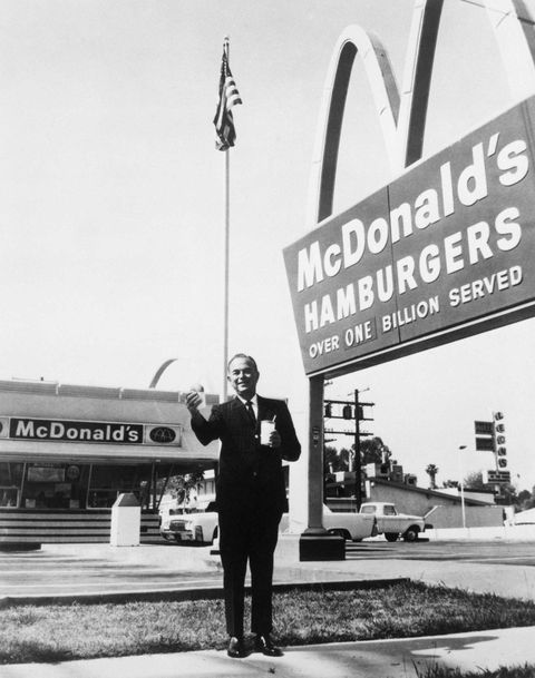 ray kroc is seen outside of mcdonald's in this 1960 shot while he was founder and chairman of mcdonald's, his relationship with the mcdonald's brothers wasn't all hugs and smiles