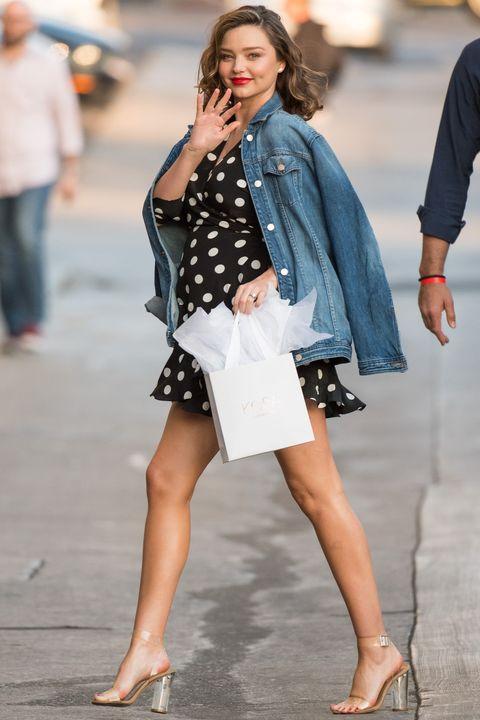 丹寧外套, 牛仔外套, 穿搭, Miranda Kerr