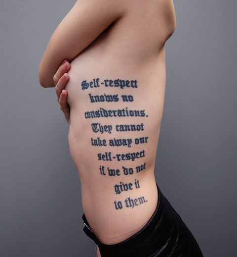 Arm, Skin, Font, Joint, Text, Tattoo, Wrist, Human leg, Hand, Elbow,
