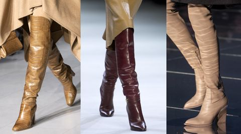 Le scarpe moda 2019 invernali sono da perdere la testa: si passa dagli stivaletti con tacco e platform agli stivali alti cuissardes in pelle nera o in morbido camoscio sino alle scarpe basse rasoterra.