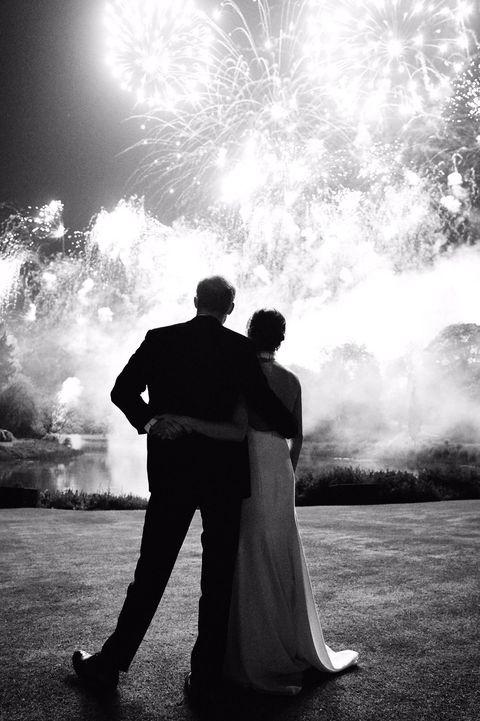 Photograph, Black-and-white, Romance, Sky, Monochrome photography, Bride, Photography, Dress, Love, Monochrome,