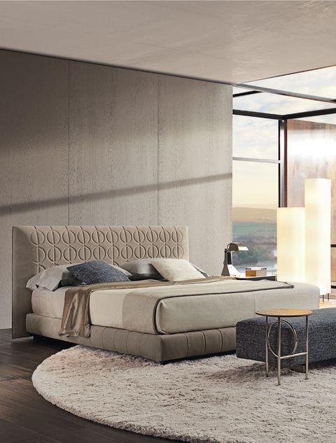 Furniture, Bed, Bedroom, Room, Bed frame, Interior design, Wall, Mattress, Box-spring, Bed sheet,
