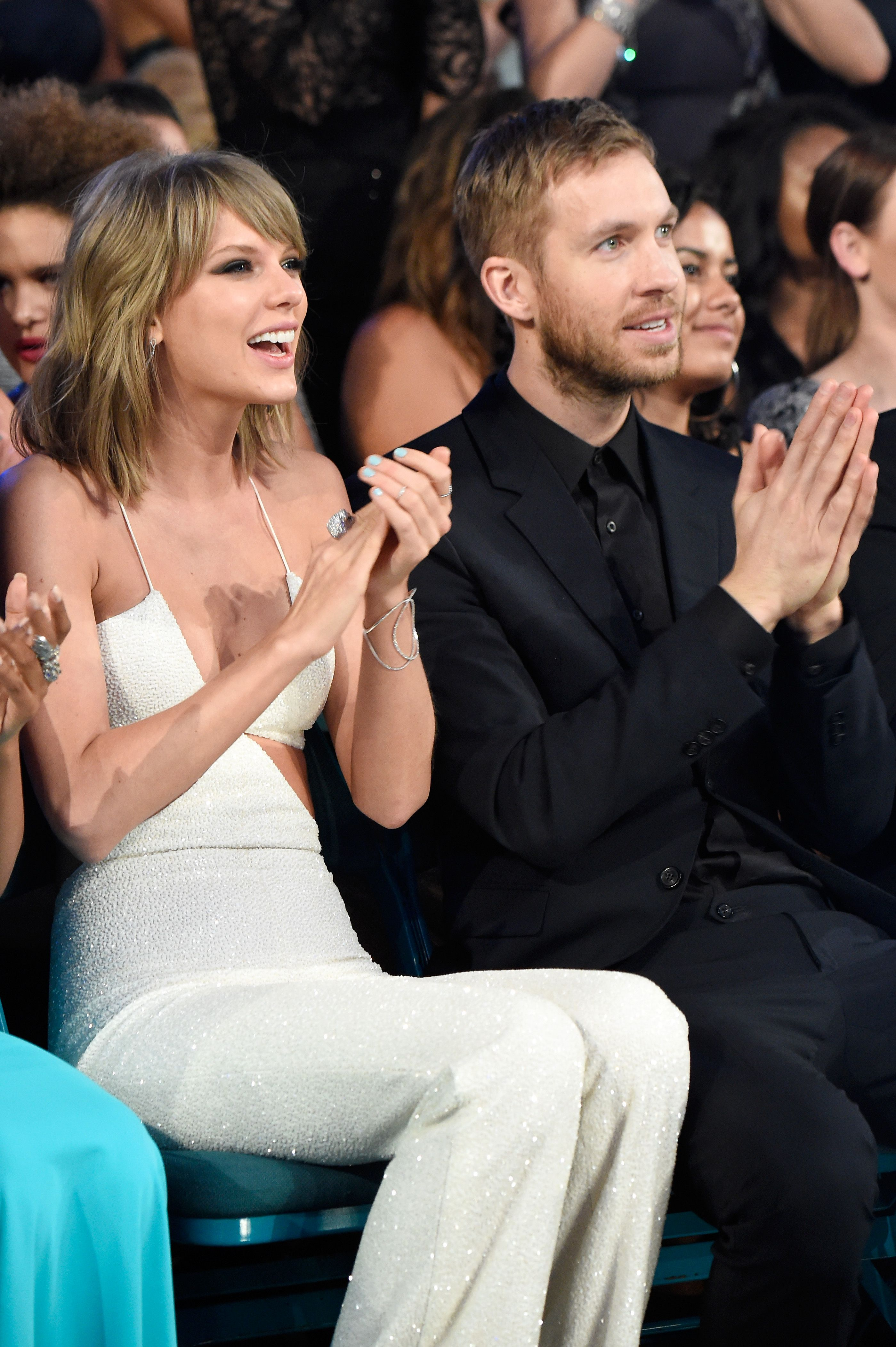 Taylor Swift and Calvin Harris Ellie Goulding admitted to setting the singer and DJ up. The pair dated for more than a year before splitting in 2016.