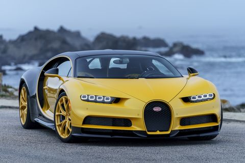 Land vehicle, Vehicle, Car, Sports car, Automotive design, Supercar, Bugatti veyron, Bugatti, Yellow, Performance car,