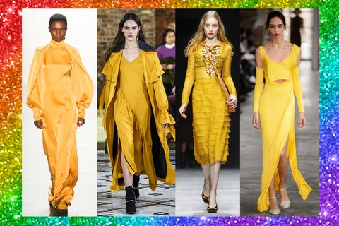 Il prossimo autunno inverno 2018-2019 scegli i colori dell'arcobaleno: i vestiti di moda lunghi, corti, da giorno e da sera si tingono di colori brillanti, energetici, vivi.