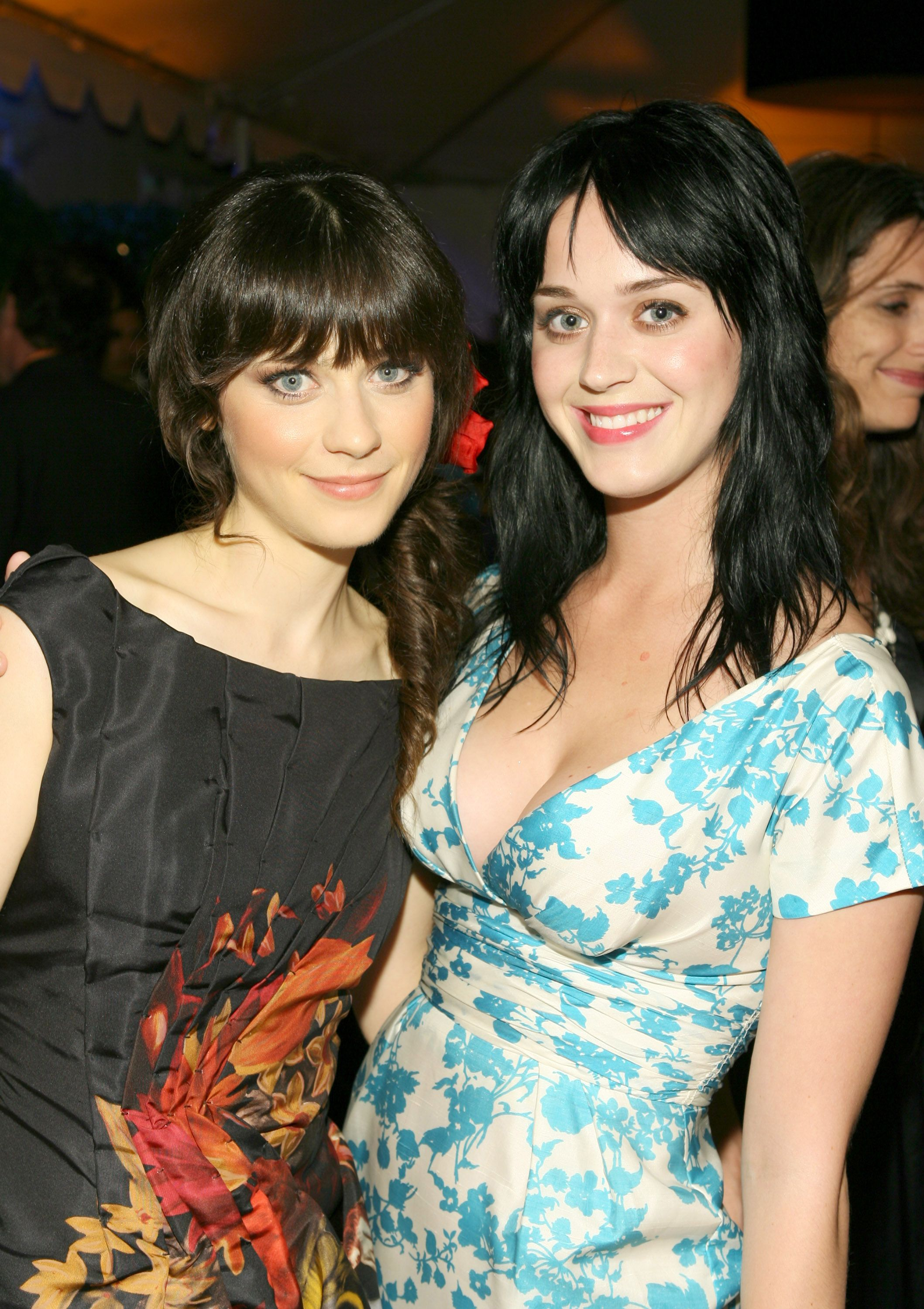 Zooey Deschanel and Katy Perry The wide-eyed stars are often confused for each other. In 2009, Deschanel admitted that the situation could be kind of annoying.