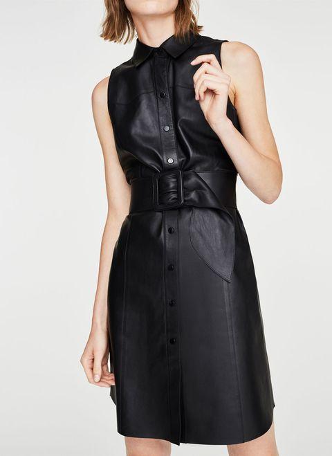 Clothing, Dress, Cocktail dress, Little black dress, Neck, Sleeve, Day dress, Photo shoot, Collar, Waist,