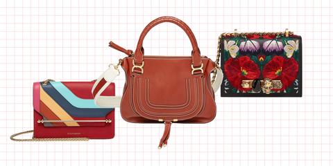 Handbag, Bag, Red, Fashion accessory, Leather, Shoulder bag, Fashion, Design, Material property, Font,