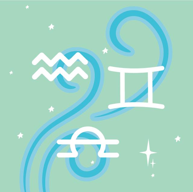 gemini, libra and aquarius signs