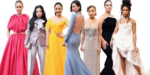 Fashion model, Dress, Clothing, Fashion, Gown, Yellow, Formal wear, Fashion design, Event, Bridal party dress,