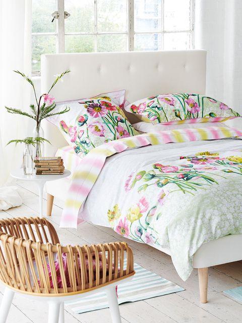 blanco, fibra y flores, una combinación fresquita y ligera