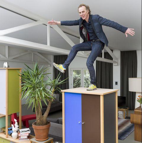 designer richard hutten in his rotterdam home