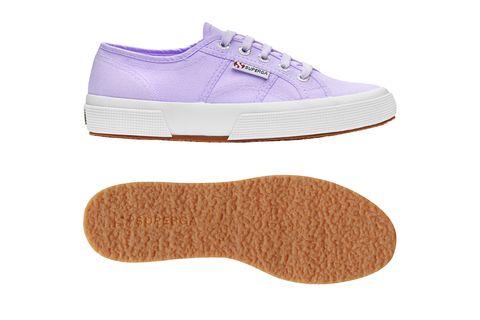 Footwear, Sneakers, Shoe, Violet, Plimsoll shoe, Walking shoe, Beige, Athletic shoe, Tennis shoe, Outdoor shoe,