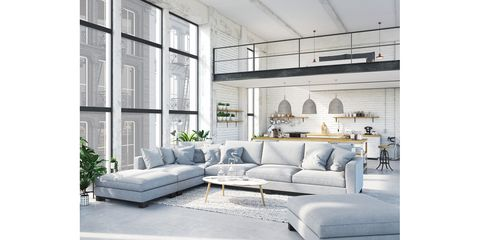Furniture, Living room, White, Room, Couch, Interior design, studio couch, Sofa bed, Table, Coffee table,
