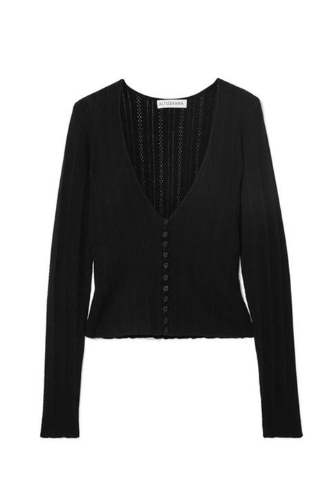 Clothing, Outerwear, Black, Sleeve, Jacket, Blazer, Top, Crop top, Neck, Cardigan,