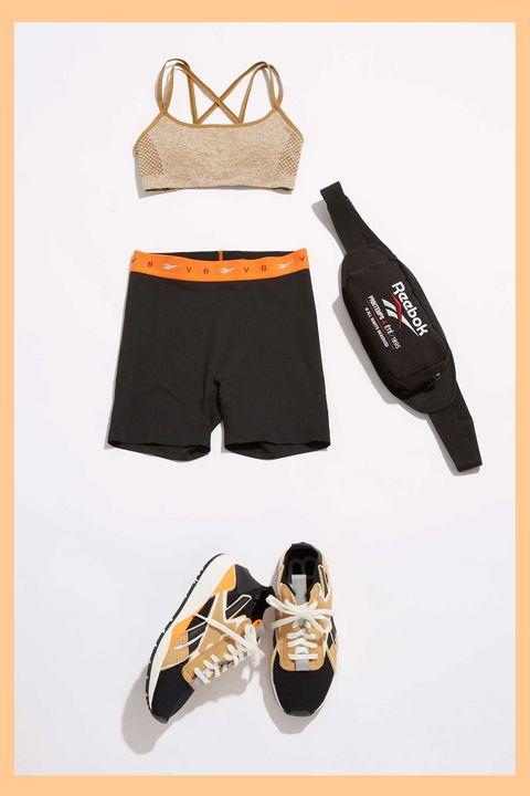 Clothing, Product, Orange, Shorts, Cycling shorts, Footwear, Sportswear, Room, Trunks, Shoe,