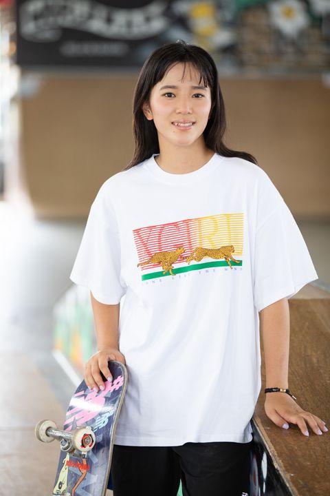 Clothing, White, T-shirt, Shoulder, Sleeve, Street fashion, Yellow, Neck, Fashion, Top,