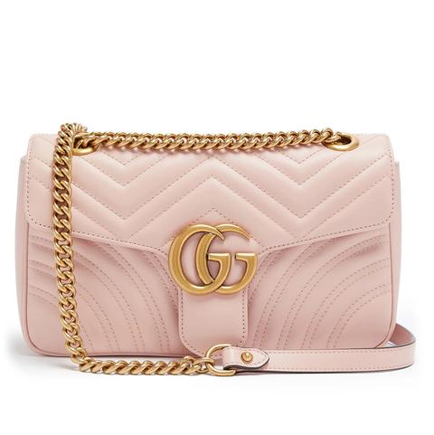 GUCCI GG Marmont mini粉色斜背包
