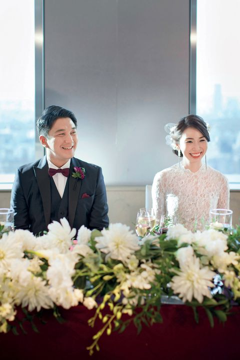 Photograph, White, Wedding dress, Ceremony, Bridal clothing, Bride, Dress, Wedding, Flower Arranging, Gown,