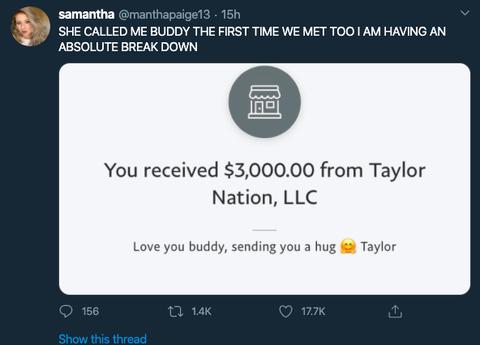 武漢肺炎讓粉絲失業!泰勒絲超暖直接匯9萬幫忙