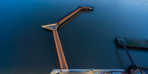 Crane, Sky, Fixed link, Water, Architecture, Infrastructure, Night, Tower, Vehicle, City,