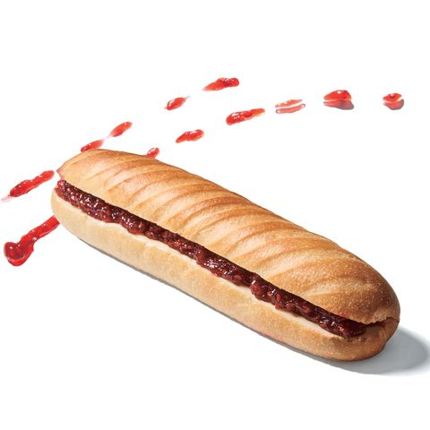 Fast food, Hot dog bun, Food, Sausage bun, Bun, Saveloy, Cuisine, Hard dough bread, Hot dog, Bratwurst,