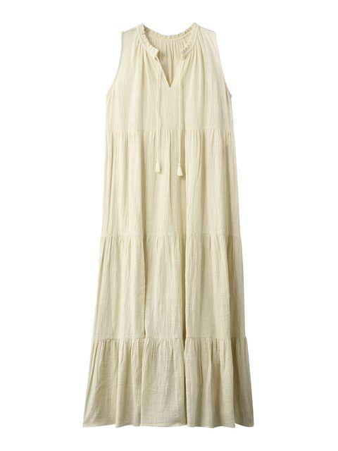 夏のカラードレスはクリームイエローをマーク