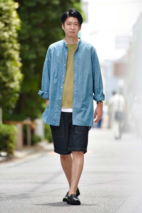 大人の夏スタイル , 夏スタイル,  スタイル, 短パン ,  ショーツ,  スナップ, ファッション, メンクラ