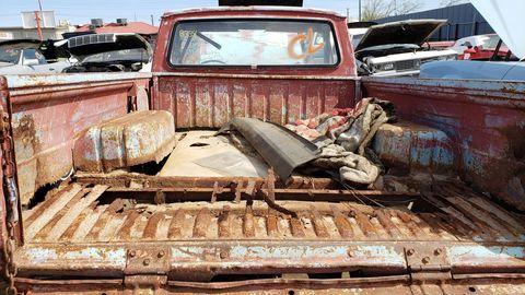 1971 Toyota Hilux pickup in Arizona junkyard