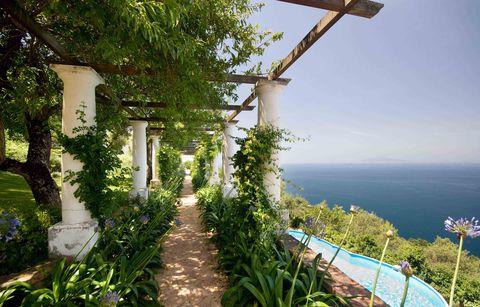 Vegetation, Property, Sky, Real estate, Tree, Vacation, Plant, Sea, House, Coast,