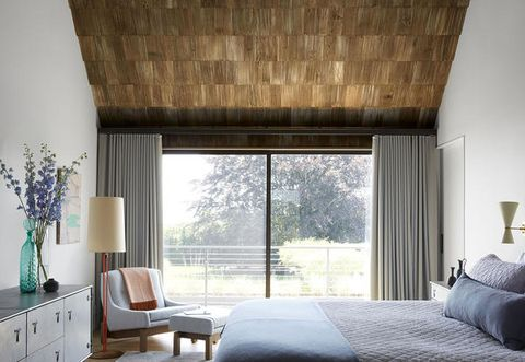 Room, Furniture, Interior design, Curtain, Property, Bedroom, Window treatment, Ceiling, Wall, Building,