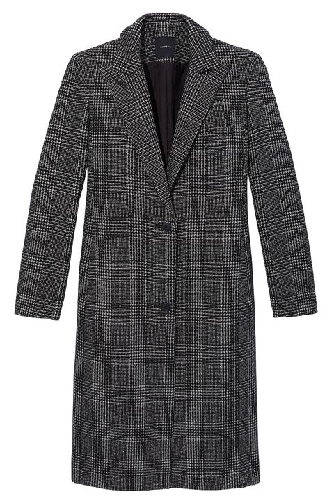 Clothing, Pattern, Outerwear, Coat, Tartan, Sleeve, Plaid, Design, Dress, Overcoat,